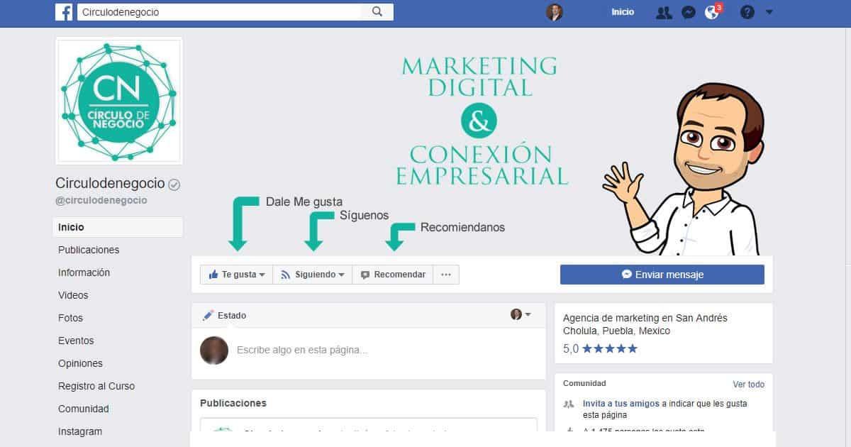 fan page Circulo de Negocio